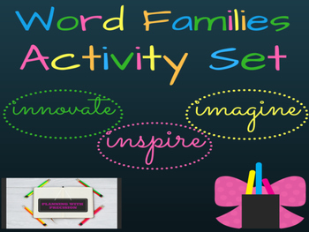 Word Families Activity Set
