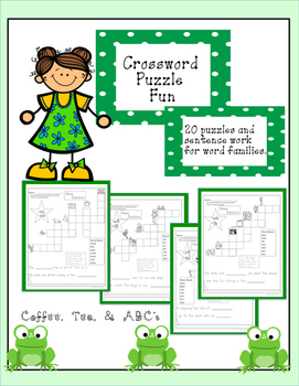 Word Families Crossword Puzzles