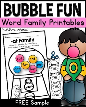 Word Families - Cut and Paste Fun!