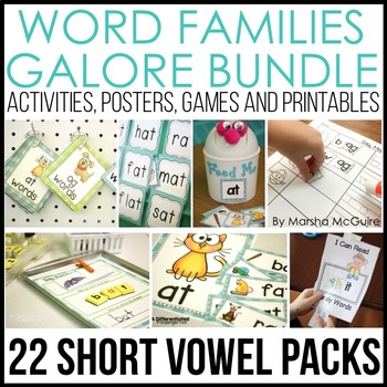 Word Families Galore Bundle-22 Weeks of Differentiated Word Work