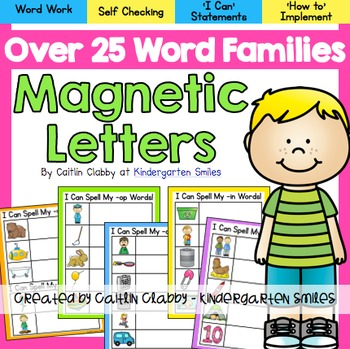 Word Families-Magnetic Letters