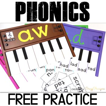 Word Families Activities: Pianos (FREE)