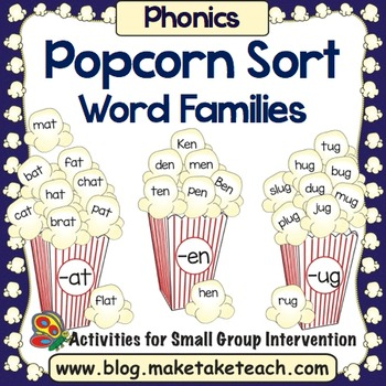 Word Families - Popcorn Sorting