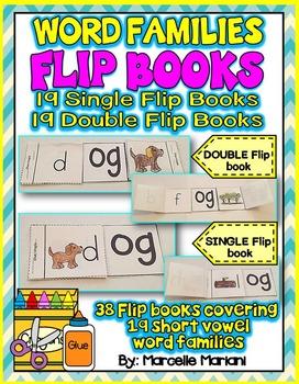 Word Families SINGLE & DOUBLE FLIP BOOKS- 19 SHORT VOWELS