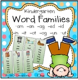 Word Families Activities for Kindergarten - Set One