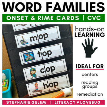 Word Families: Short Vowels CVC Onset and Rime Cards