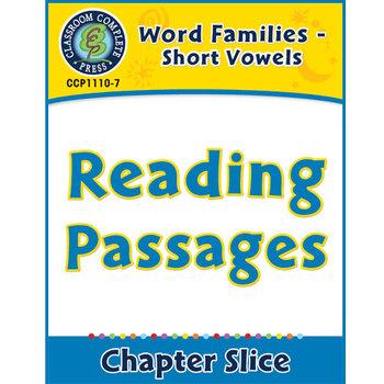 Word Families - Short Vowels: Reading Passages Gr. K-1