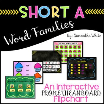 Word Families - Short a (An Interactive Promethean Board F