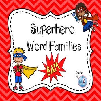 Word Families (Superhero Theme )