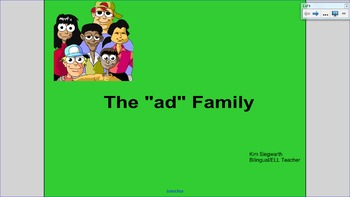 """Word Families: The """"ad"""" Family"""