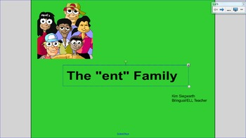 """Word Families:  The """"ent"""" Family"""