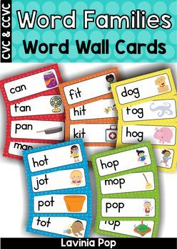Word Families Word Wall