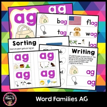 Word Families Activities AG