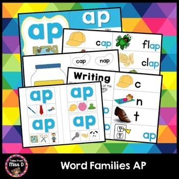 Word Families Activities AP