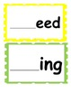 Word Families /-eed/ and /-ing/...Building Words Center an