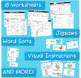 Word Families Word Work for Short E - charts, playdough ma