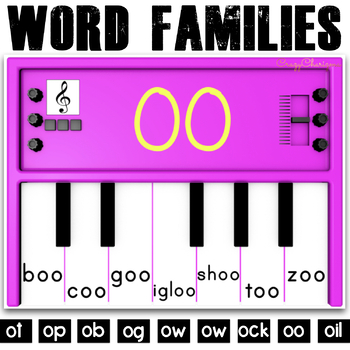Word Families Activities: Pianos (O)
