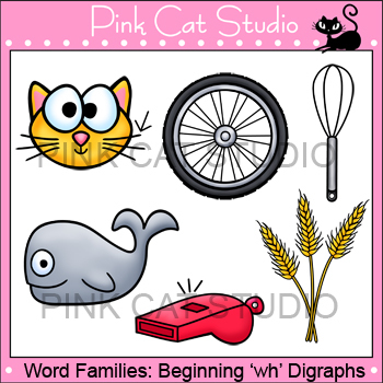 Word Families: wh- Digraphs Clip Art - Personal or Commercial Use