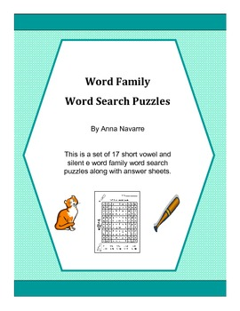 Word Familiy Word Search Puzzles