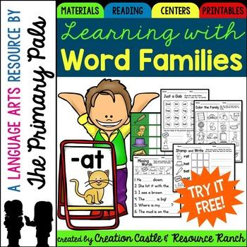 Word Families Printables