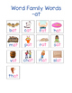 Word Family  - At Words Activity & Graphic Organizer