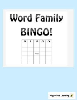 Word Family BINGO - Full Pack