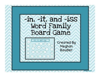 Word Family Board Game (it,in,iss)