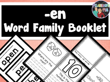 Word Family Booklet -en