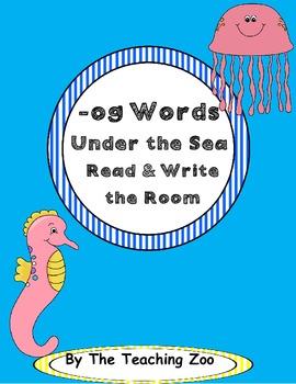 Word Family Center {-og words} Under the Sea Read & Write
