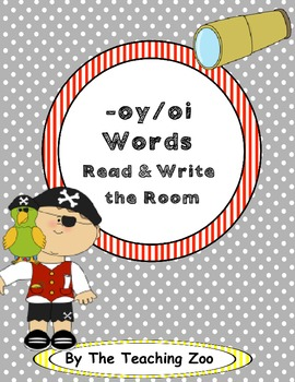 Word Family Center {-oi & -oy words} on Deck Read & Write