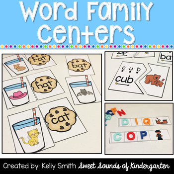 Word Family Centers {CVC Words and Word Family Practice}