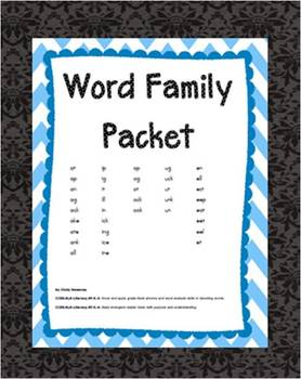 Word Family Cut & Paste Complete Set 36 Families