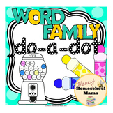 Word Family Do-a-Dot Worksheets Covering 55 Different Word