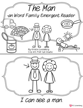 Word Family Emergent Reader FREEBIE (-an)