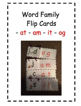 Word Family Flip Cards Package