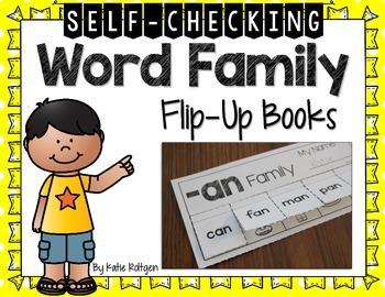 Word Family Flip-Up Books
