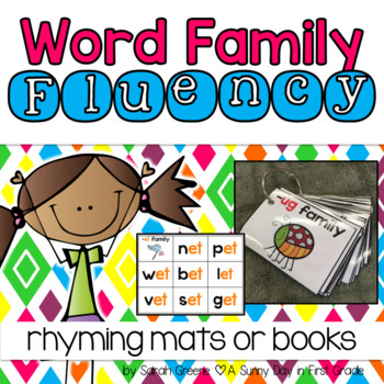 Word Family Fluency Cards