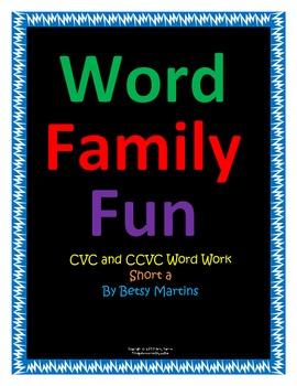 CVC and CCVC Word Family Fun Short a