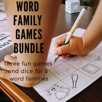 Word Family Games BUNDLE!  Includes games for six word families.