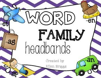 Word Family Headbands