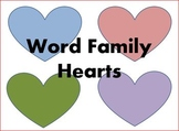 Word Family Hearts Short a
