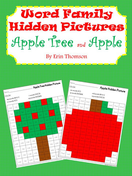 Word Family Hidden Pictures ~ Apple Tree and Apple