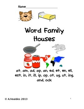 Word Family Houses without words