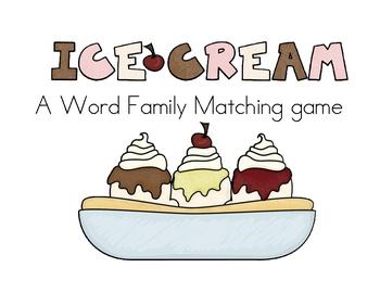 Word Family Ice Cream Cones