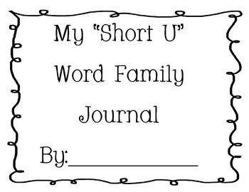 Word Family Journal - Short U