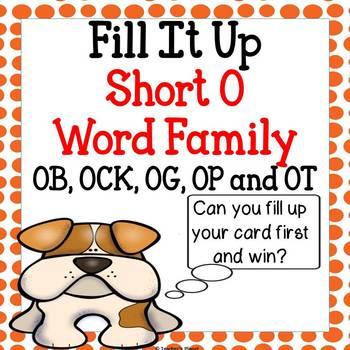 Reading Games -  Short O Word Family Jump