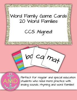 Word Family Learning Center- CCSS Aligned Regular and Spec