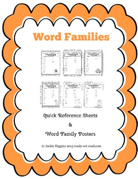 Word Family Lists and Worksheets