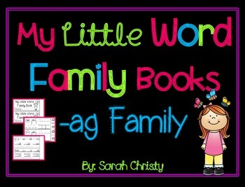 Word Family Little Book -ag Word Family