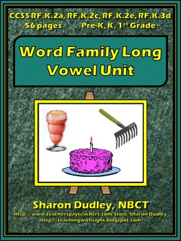 Word Family Long Vowel Unit